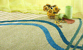 Close-up of clean area rug